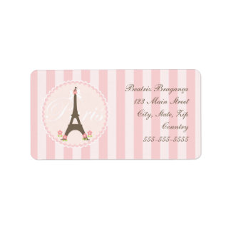 Paris in Spring Girly Personalized Address Label