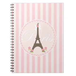 Paris in Spring Girly Note Books