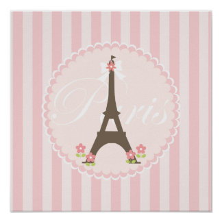Paris in Spring Girly Poster