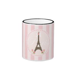 Paris in Spring Girly Ringer Mug