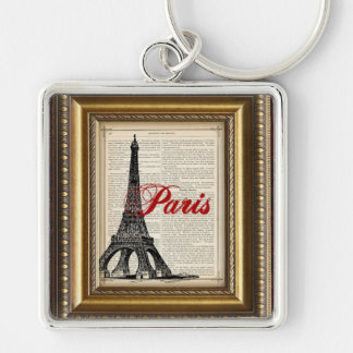 Paris in the Palm of Your Hand Silver-Colored Square Keychain