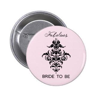 Paris Inspired Bride Button
