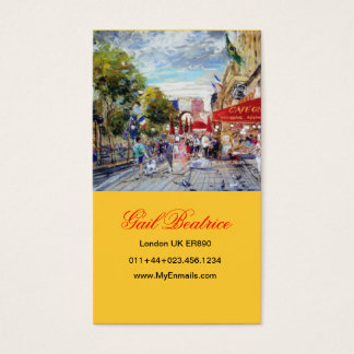 Paris Inspired Business Cards