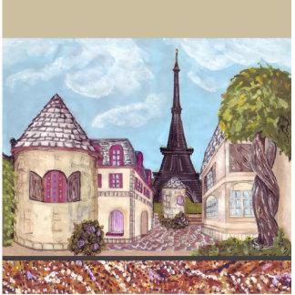 Paris Inspired Cityscape Eiffel Tower Ornament