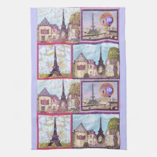 París inspiró los paisajes urbanos y la torre Eiff Toallas