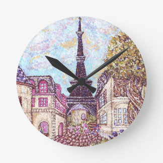 París inspiró paisaje urbano con la torre Eiffel W Relojes