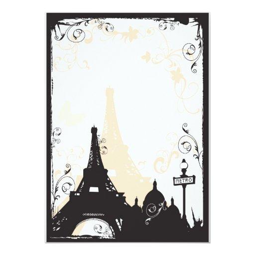 "Paris Invitation 5"" X 7"" Invitation Card"