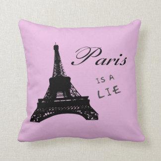 Paris is a lie pillow