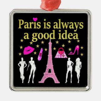 PARIS IS ALWAYS A GOOD IDEA METAL ORNAMENT