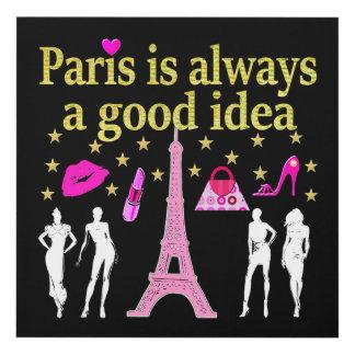PARIS IS ALWAYS A GOOD IDEA PANEL WALL ART