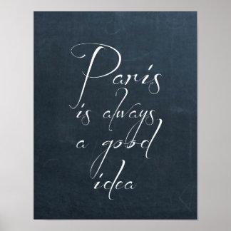 Paris Is Always A Good Idea Poster