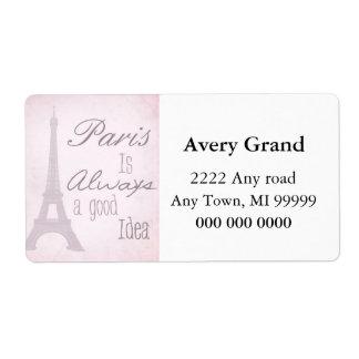 Paris Is Always A Good Idea Shipping Label