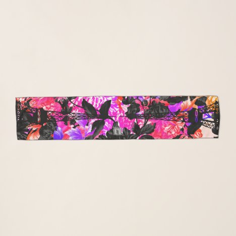 Paris Is Blooming Psychedelic Floral Garden Scarf