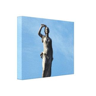 Paris - Jardin de Luxembourg Stretched Canvas Print
