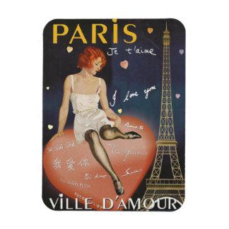 Paris je t' aime, old poster. magnet