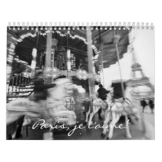 Paris, je t'aime! wall calendars