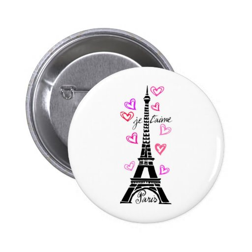 PARIS JE T'AIME EIFFEL AND PINK HEARTS PINS