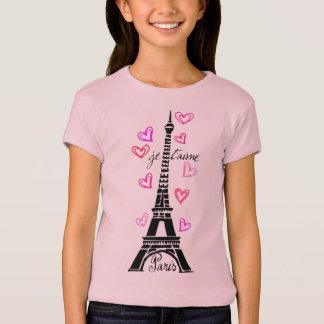 PARIS JE T'AIME EIFFEL AND PINK HEARTS T-Shirt