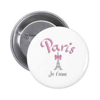 Paris - Je t'aime (I love you) Button