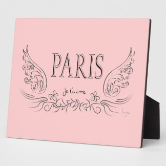 PARIS Je t'aime ( i love you) Plaque