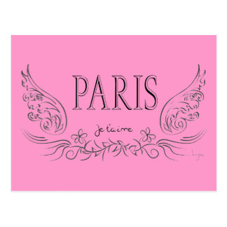 PARIS Je t'aime ( i love you) Postcard
