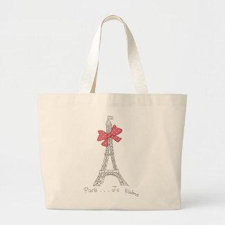 Paris...Je t'aime Large Tote Bag