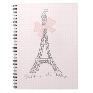 Paris je t'aime notebook