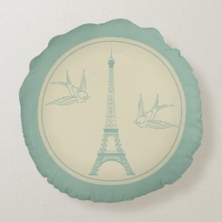 Paris je t'aime round pillow