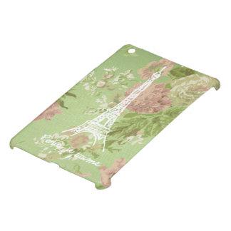 Paris, je t'aime Vintage Floral Eifel Tower iPad Mini Case