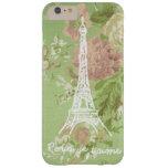 Paris, je t'aime Vintage Floral Eiffel Tower Barely There iPhone 6 Plus Case