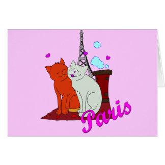 Paris Kitties Card