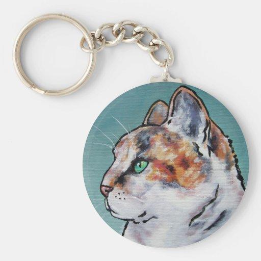 Paris Kitty Cat Keychain