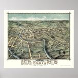 Paris, KY Panoramic Map - 1870 Poster