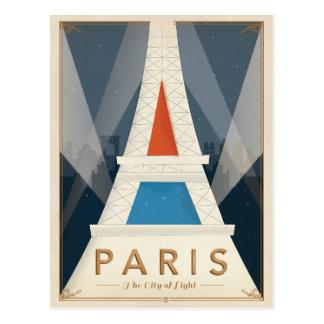 París - la ciudad de la luz tarjeta postal