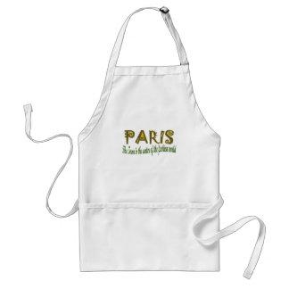 París la ciudad es el centro de la moda delantales