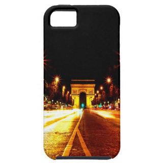 París la noche del monumento de Arco del Triunfo iPhone 5 Fundas
