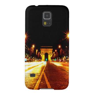 París la noche del monumento de Arco del Triunfo Carcasas Para Galaxy S5