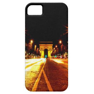 París la noche del monumento de Arco del Triunfo iPhone 5 Carcasa