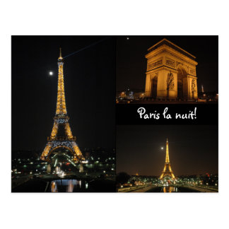 Paris la nuit! postcard