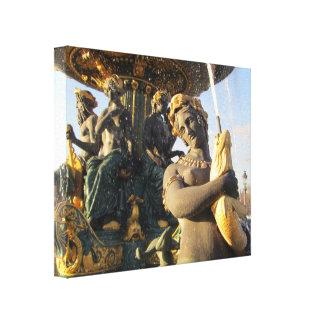 París - la plaza de la Concordia Impresión En Lona Estirada