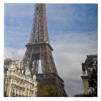 París, la torre de Eiffel Azulejo Cuadrado Grande