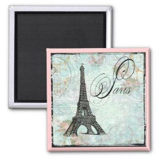 Paris La Tour Eiffel French Design 2 Inch Square Magnet