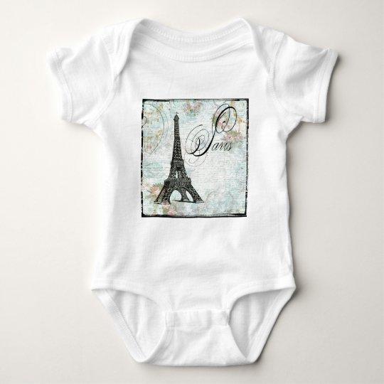 Paris La Tour Eiffel French Design Baby Bodysuit