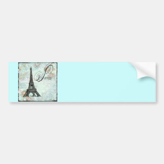 Paris La Tour Eiffel French Design Bumper Sticker