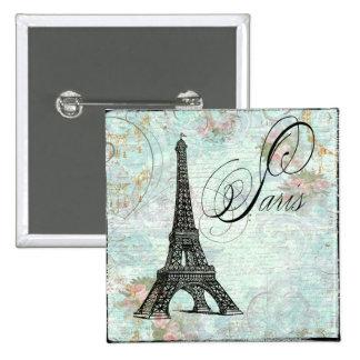 Paris La Tour Eiffel French Design Button