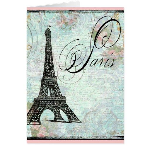 Paris La Tour Eiffel French Design Greeting Card