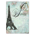 Paris La Tour Eiffel French Design Greeting Cards