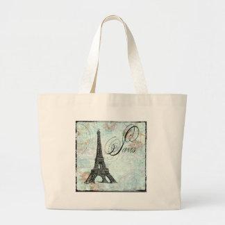 Paris La Tour Eiffel French Design Large Tote Bag