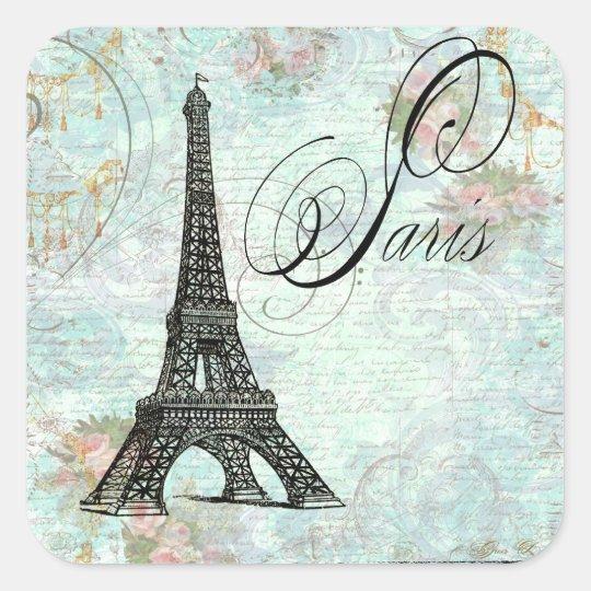 Paris La Tour Eiffel French Design Square Sticker