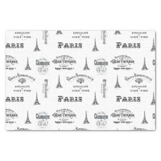 """Paris Label Collage Tissue Paper 10"""" X 15"""" Tissue Paper"""